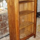 Antique Mission solid oak china cabinet