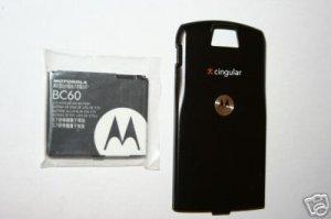 OEM Motorola L7 SLVR Battery BC60 + Back Door Cover