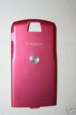 NEW OEM Motorola Slvr L7 Back Cover Battery Door Pink
