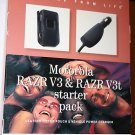 Leather Pouch & Clip + Car Charger for Motorola V3 Razr