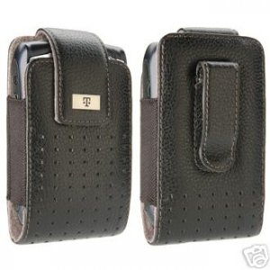 T-mobile Leather Case Pouch for Blackberry Tour 9630