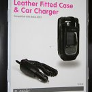 T-Mobile Leather Fitted Case + Car Charger For Nokia 6263