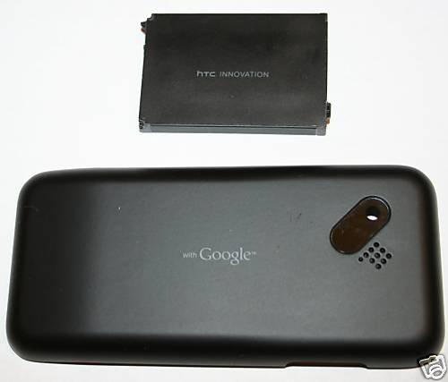 OEM HTC G1 Google Back Cover Door - Black + Battery