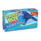 New Chore Boy Longlast Scrubber Sponge Scrubs Without Scratching - 3 sponges