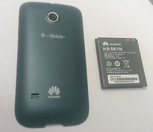OEM Original Huawei Prism Back Cover Door T-Mobile U8651 - Blue + Battery HB5K1H