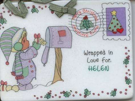 1992 Samuel J Butcher Enesco  Christmas Ornament Helen