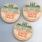 Vintage Milk Cap Pine Grove Dairy Skaneateles New York Skim Milk