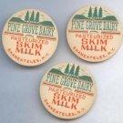 Vintage Milk Cap Pine Grove Dairy Skaneateles New York Skim Milk