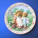 Collector Plates Enesco Jack & Jill Cherished Teddies Nursery Rhyme Collection Plate