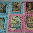 Vintage Set of 6 Hummel cute kids pictures framed