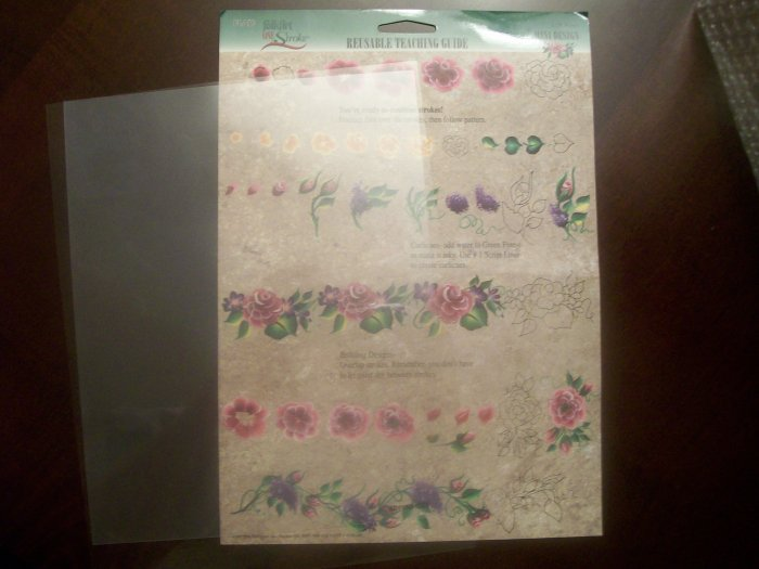PLAID One Stroke Reusable Teaching Guide #1136 Roses MINI Design