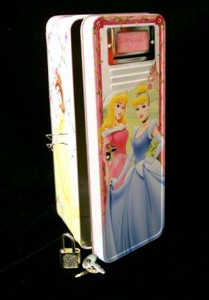 Disney Princesses Tin Locker W/ Lock & Key