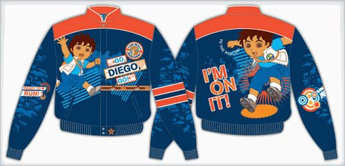 "2008 DIEGO ""I'M ON IT"" KIDS BLUE TWILL JACKET"