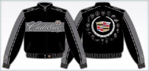 CADILLAC ADULT emblem BLACK TWILL JACKET