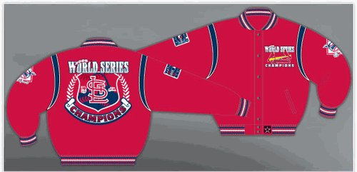St. Louis Cardinals World Series Champions Adult Wool & Leather Reversible Jacket