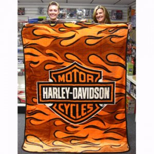 HARLEY DAVIDSON SUPER PLUSH THROW-BLANKET