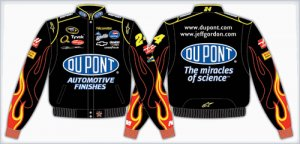 2008 JEFF GORDON / DU PONT ADULT BLACK TWILL JACKET