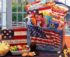 America The Beautiful Snack Gift Box basket