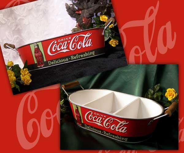 Coke Oval Tray W/ Handles