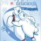 "Tin Sign ""COKE - Polar Bears"""