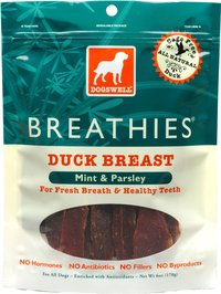 DOGSWELL BREATHIES DUCK 15 OZ