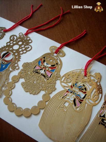 """Super Containing Pure Gold Bookmark set--""""Beijing opera types of facial makeup in operas"""""""