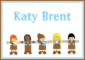 BROWNIE Girl Scout Daisy PERSONALIZED Note Cards