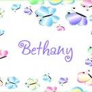 Butterflies Butterfly Feminine PERSONALIZED Note Cards