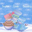 Christmas Cards Snowman Family Three PERSONALIZED