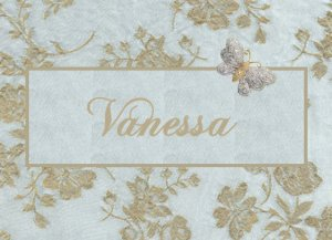 Elegant Lace-Like Butterfly  PERSONALIZED Note Cards