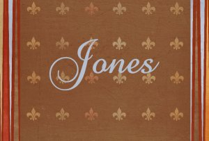 Fleur de Lis Brown & Blue PERSONALIZED Note Cards