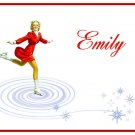 Ice Skater Skating Girl PERSONALIZED Note Cards Gift