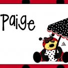 Ladybug Red Black PERSONALIZED Note Cards