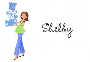 PERSONALIZED Baby Shower Thank You Note Cards BLUE