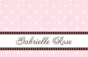 Pink & Brown Dots Personalized Note Cards
