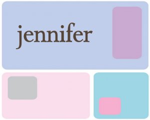 Retro Squares  PERSONALIZED Note Cards Stationery