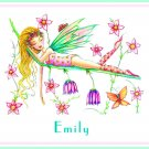 Sleeping Fairy Fae PERSONALIZED Note Cards Stationery