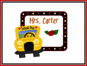 Teacher Gift  PERSONALIZED Note Cards School Bus Driver