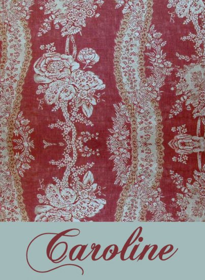 Toile Vintage Burgundy PERSONALIZED Note Cards