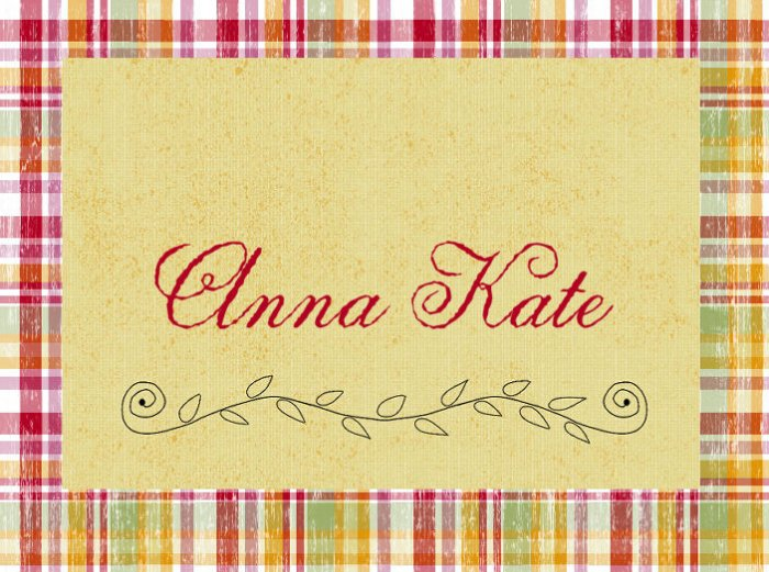 Vintage Plaid PERSONALIZED Note Cards Stationery