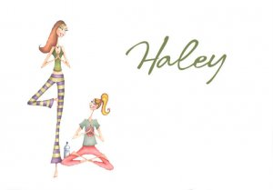YOGA Buddy Girlfriend  PERSONALIZED Note Cards Gift