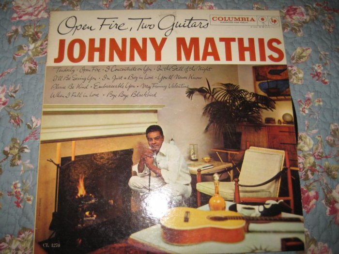 Johnny Mathis' Open Fire, Two Guitars 33 1/3 rpm