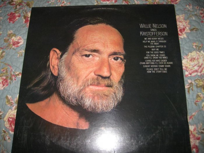 Willie Nelson sings Kristofferson 33 1/3 rpm