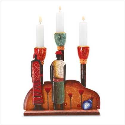 African Candleholder - 34294