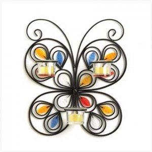 Butterfly Iron Candleholder - 37873