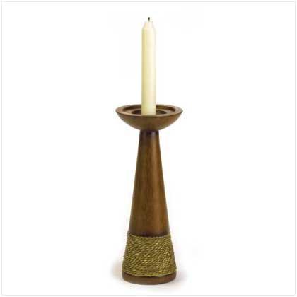 Rope Trimmed Candle Holder - 37964