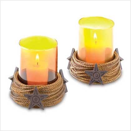 Western Candleholder Set - 38449