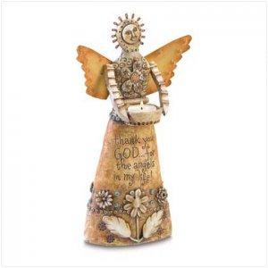 Crafted Angel Tealight Holder - 38472