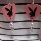Pink Playboy 2` GUITAR PICK EARRINGS!