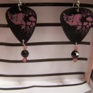 SKull angel wings GUITAR PICK EARRINGS!